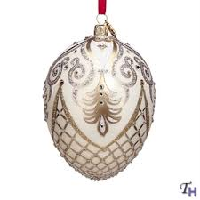 egg ornaments christmas reflections ornament florentine egg by reed barton