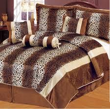 Fur Bed Set 7 Piece Safari Pink And Black Patchwork Micro Suede Comforter Set