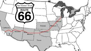 map us highway route 66 historic route 66 the road us66 is americas