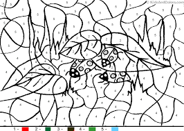 animal color number color number ladybugs coloring pages