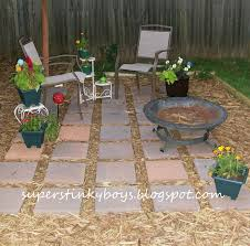 pea gravel patio with paver and furniture inexpensive best