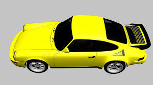 porsche ruf yellowbird 3d model ruf ctr yellowbird cgtrader