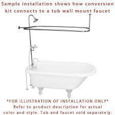 Clawfoot Bathtub Shower Satin Nickel Clawfoot Tub Shower Conversion Kit With Enclosure