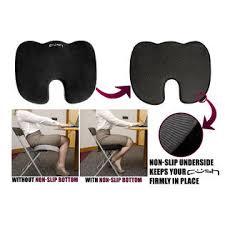 Non Slip Chair Pads Cush Comfort Non Slip Memory Foam Seat Cushion Spinal Alignment