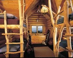 Cabin Bunk Beds Appealing Log Cabin Bunk Bed Plans Using Memory Foam Sleep