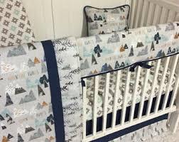 Denim Crib Bedding Deposit Baby Boy Crib Bedding Set Denim Blue Navy Blue Taupe