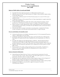 Professional Accomplishments Resume Examples by Sample Accomplishment Resume Template Resume Sample Information