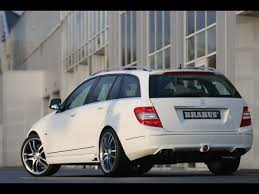 mercedes c class station wagon 2008 brabus mercedes c class station wagon rear and side