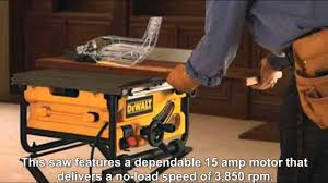 Site Table by Dewalt Dw745 10 Inch Compact Job Site Table Saw Review Youtube