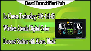 Color Forecast by La Crosse Technology 308 1414b Wireless Atomic Digital Color