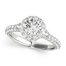flower halo engagement ring flower halo engagement ring with oval side stones