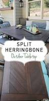 split herringbone patio tabletop outdoor tables tabletop and