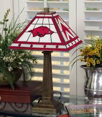 Arkansas Razorback Home Decor by Arkansas Razorbacks Stained Glass Mission Style Table Lamp Sports