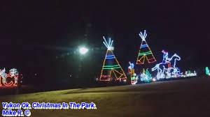 yukon ok christmas lights yukon ok christmas in the park youtube