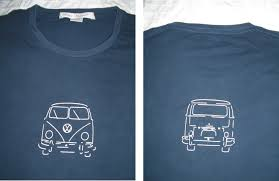 volkswagen old van drawing vw bus t shirts campervan crazy