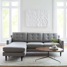 Sectional Gray Sofa Reversible Sectional West Elm