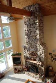 Two Story Fireplace Kebo Construction Custom Home Builder Smith Mountain Va