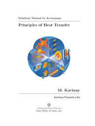 principles of heat transfer solutions manual heat transfer