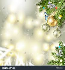 Christmas Decorations With Pine Tree Branches by Christmas Background Balls Pine Tree Branch Stock Vector 120221023