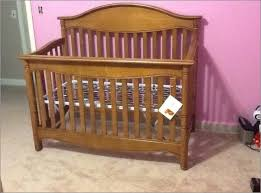 Lajobi Convertible Crib Baby Cribs Boho Synthetic Fabric Textured Neutral Standard Cribs