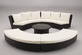 curved rattan sofa lake george outdoor wicker curved sofa thesofa