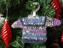 miniature sweater ornament crochet