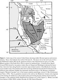 Map Of The Western United States by Miocene And Early Pliocene Epithermal Gold Silver Deposits In The