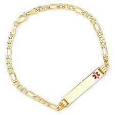 personalized gold bracelets personalized gold alert bracelets for women