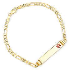 personalized gold alert bracelets for women