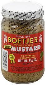 boetje s mustard boetjes mustard ground 8 5 oz nutrition information