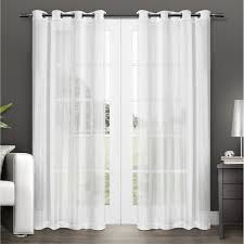 halloween lace curtains exclusive home penny grommet top window curtain panels white