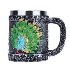 online shop 401 500ml peacock shape anchor logo stainless steel