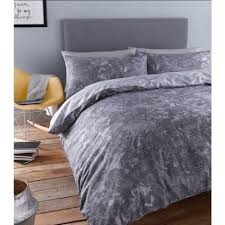 Tesco Bedding Duvet Buy Catherine Lansfield Marble Duvet Cover Set Double From Our