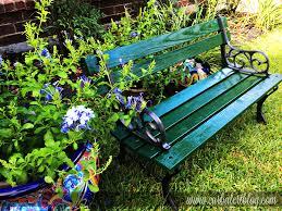curb alert outdoor garden bench makeover