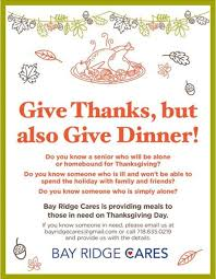 bay ridge cares delivers thanksgiving dinner 2017