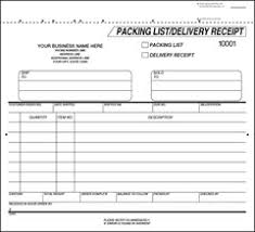 packing list form traditional white packing list and delivery receipt free shipping