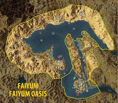 Assassin S Creed 2 Map Map Of Faiyum And Faiyum Oasis Tombs Papyrus Puzzles And