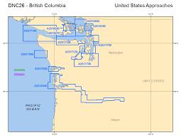 Oregon And Washington Map by Digital Nautical Chart
