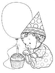 happy birthday coloring pages for kids to print free and paint