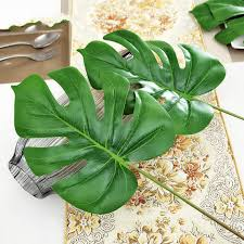 Fake Plants Plastic Leaves Artificial Plants Turtle Bamboo Simulation Flower