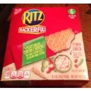 nabisco ritz crackerfuls vegetable cream cheese filled crackers