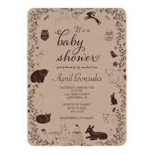 woodland creatures baby shower woodland animals baby shower invitations announcements zazzle