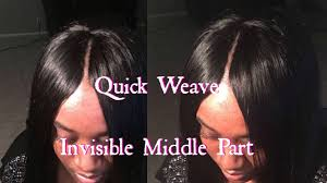 invisible part for thin hair invisible part quick weave youtube
