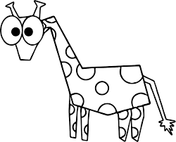 comic giraffe coloring page wecoloringpage
