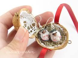miniature hedgehogs in a nut shell from vanillamaart by dawanda