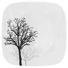 corelle square timber shadows plate shop world kitchen