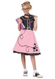 Grease Halloween Costumes Ck101 50s Sweetheart Child Pink Girls 1950s Grease Book Week