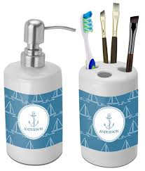 Bathroom Accessories by Sail Boats Bathroom Accessories Set Ceramic Personalized
