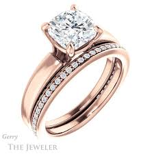 2 carat gold engagement ring 2 carat cushion cut ring setting in 14k gold gtj998 2 00ct