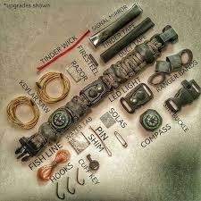 survival paracord bracelet kit images The edc prepper paracord bracelet survival kit equipped with led jpg